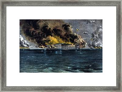 Attack On Fort Sumter Framed Print by War Is Hell Store