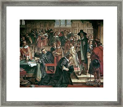 Attempted Arrest Of 5 Members Of The House Of Commons By Charles I Framed Print by Charles West Cope