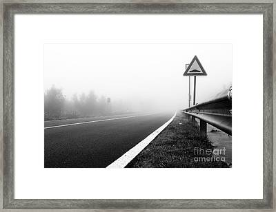 Attention To Guardrail Framed Print