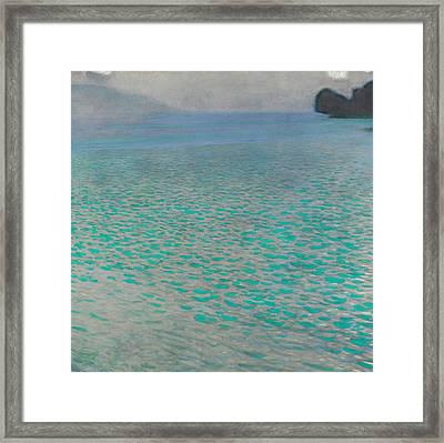 Attersee Framed Print by Gustav Klimt