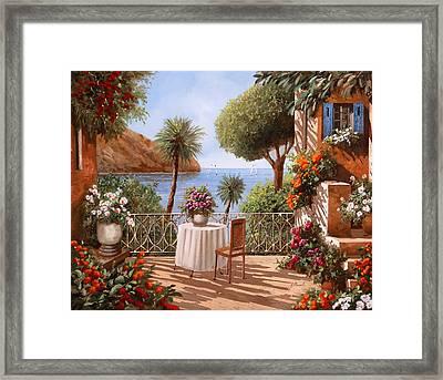 Attesa Di Qualcuno Framed Print by Guido Borelli