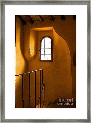 Attic Stairs-fiesole St.francis Monastery Framed Print