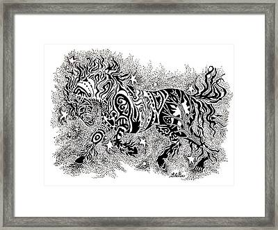 Attitude In Motion Framed Print