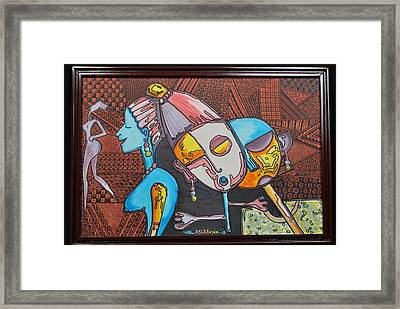 Attraction Of Femininity Framed Print by Olawale Babatunde