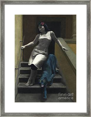 Attraction The Stairs Of Love Framed Print by Kelly Borsheim