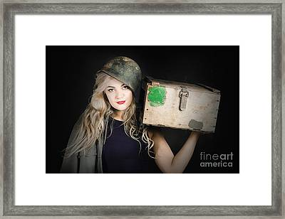 Attractive Pinup Girl. Blond Bombshell Framed Print by Jorgo Photography - Wall Art Gallery
