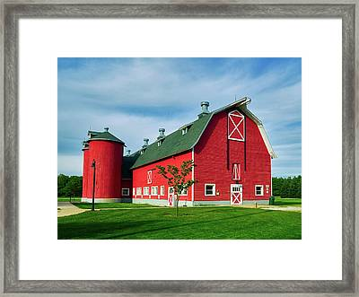 Attractive Red Barn Framed Print by Mountain Dreams