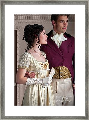 Framed Print featuring the photograph Attractive Regency Couple by Lee Avison