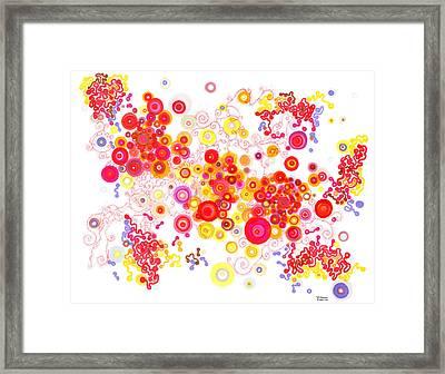 Attractors Framed Print by Regina Valluzzi