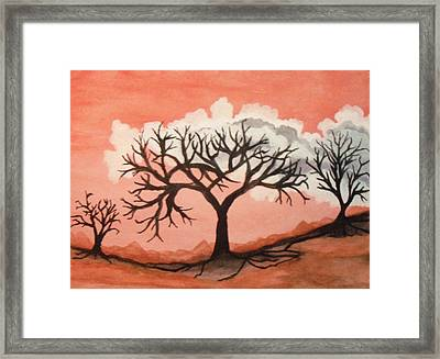 Framed Print featuring the painting Atumn Trees by Connie Valasco