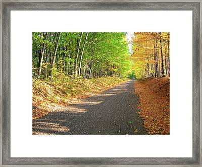 Framed Print featuring the photograph Atv Ride In Wisconsin by Randy Rosenberger