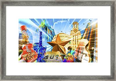 Atx Montage Framed Print by Andrew Nourse