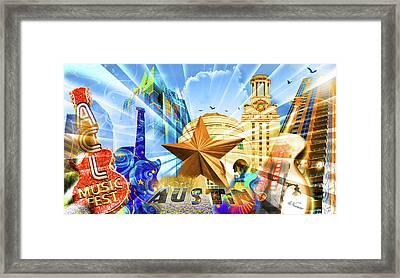 Atx Montage Framed Print