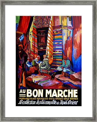 Framed Print featuring the painting Au Bon Marche by Tom Roderick