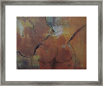 Au Gauze Framed Print by Gail Butters Cohen
