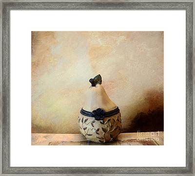 Au Pear Framed Print by Marsha Heiken