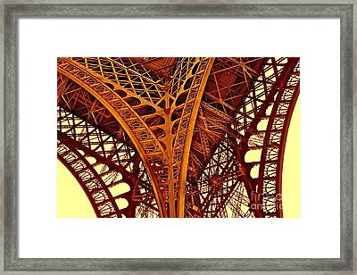Framed Print featuring the photograph Au Pied De La Tour Eiffel by Danica Radman