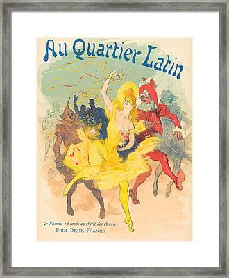 Au Quartier Latin Framed Print