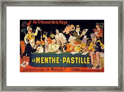 Au Tribunal De La Haye La Menthe Pastille Vintage Framed Print