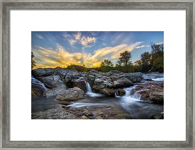 Framed Print featuring the photograph Auasble River Sunset 2 by Mark Papke