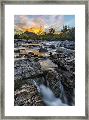 Framed Print featuring the photograph Auasble River Sunset by Mark Papke