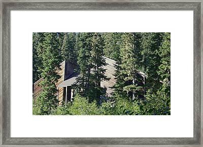 Aubrey Watzek Lodge Framed Print by Angi Parks