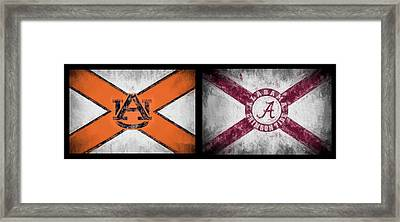 Auburn Alabama House Divided Framed Print