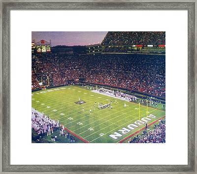 Auburn Football Framed Print by Elizabeth Coats