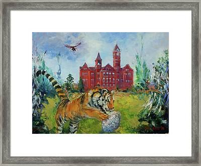 Auburn Football Winning Year Framed Print by Ann Bailey