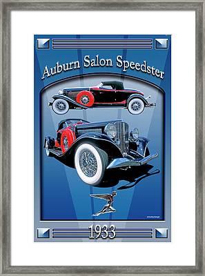 Auburn Salon Speedster V12 Framed Print