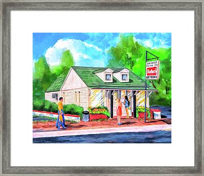 Auburn Sani-freeze - The Flush Framed Print