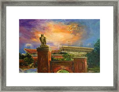 Auburn Skies Framed Print by Ann Marshall Bailey