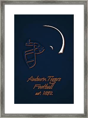 Auburn Tigers Helmet Framed Print by Joe Hamilton