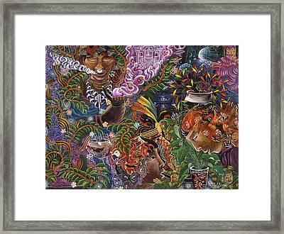 Auca Yachai Framed Print by Pablo Amaringo