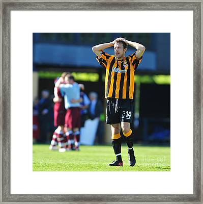 Auchinleck Talbot V Shotts Bon Accord 47 Framed Print by Alex Todd