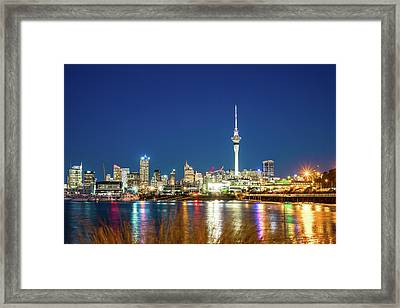 Auckland At Dusk Framed Print