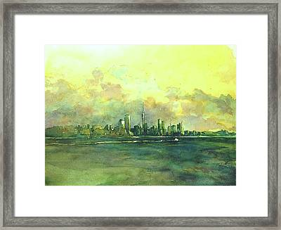 Auckland By Sea Framed Print