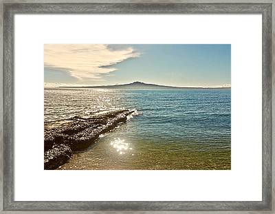 Auckland Harbour On A Winter's Afternoon Framed Print