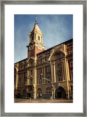 Auckland New Zealand Ferry Building Framed Print