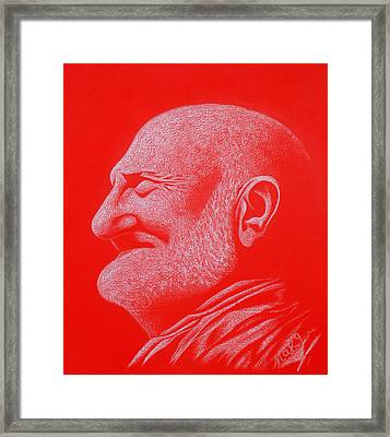 Auction Of The Vision Of Baba Framed Print