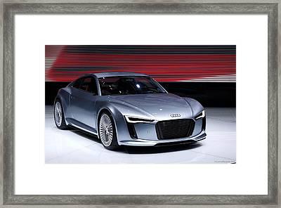 Audi E Tron 2010 New Wide Framed Print