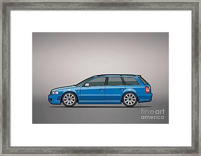 Audi Rs4 A4 Avant Quattro B5 Type 8d Wagon Nogaro Blue Framed Print