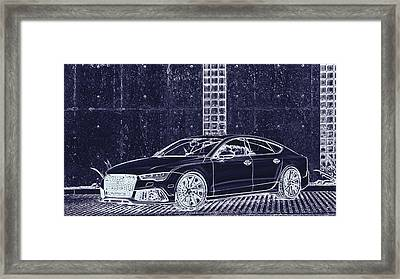 Audi Rs7 Vossen  Framed Print by PixBreak Art