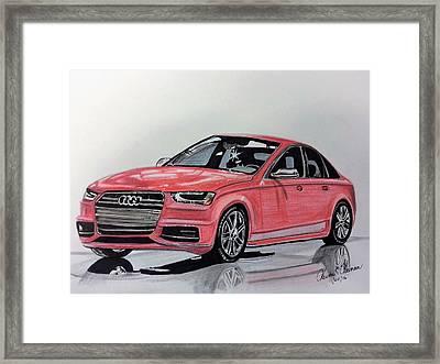 Audi S4 Framed Print by Kevin F Heuman