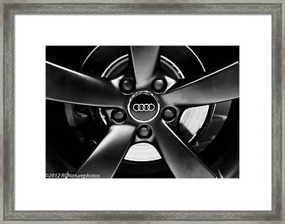 Audi Wheel  Monochrome Framed Print by Rachel Cohen