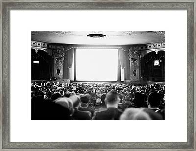 Audience In Movie Theater, 1935 Framed Print