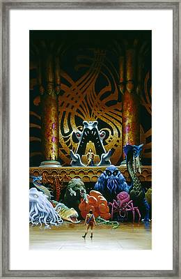 Audience Framed Print by Richard Hescox