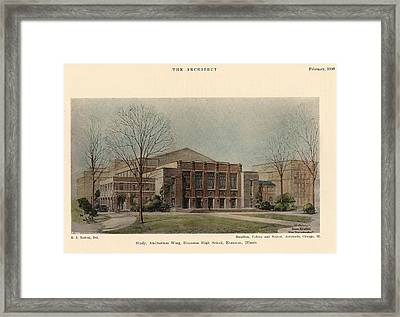 Auditorium Of Evanston High School. Evanston Illinois 1930 Framed Print by Hamilton and Fellows and Nedved