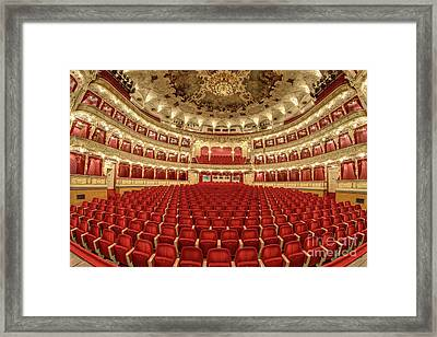 Framed Print featuring the photograph Auditorium Of The Great Theatre - Opera by Michal Boubin
