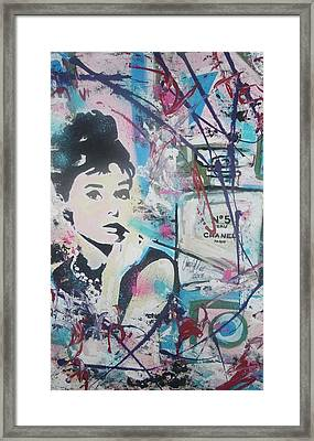 Audrey Chanel Framed Print